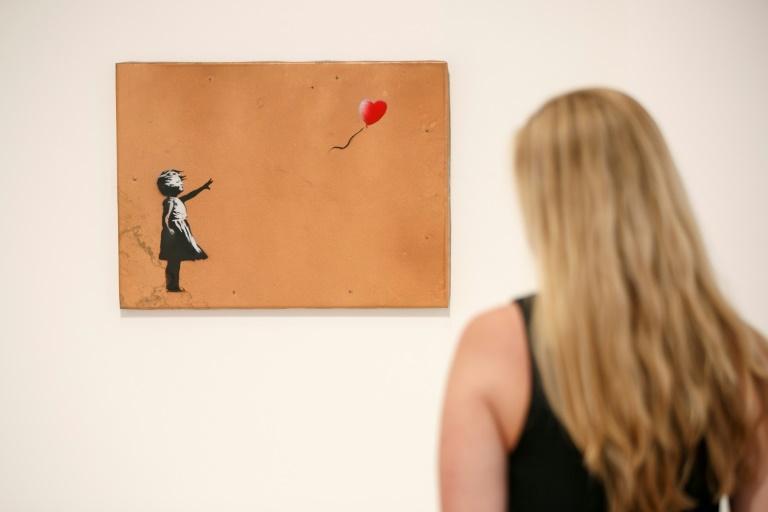 Banksy's classic stencil