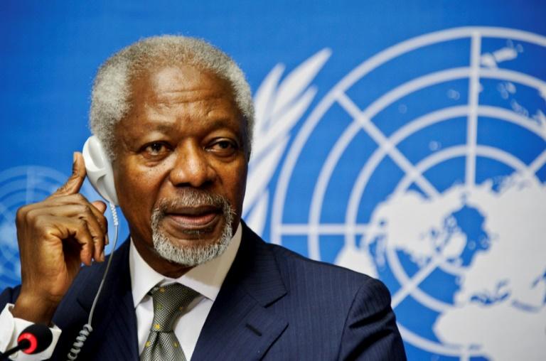 Kofi Annan has been described as a 'diplomatic rock star'