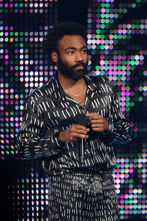 US actor Donald Glover -- shown at the BET Awards in Los Angeles in June -- could have a big Emmys night on Monday