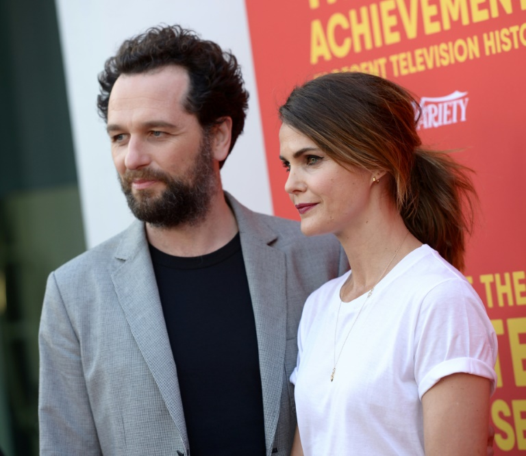 Actors Matthew Rhys (L) and Keri Russell -- shown here in Hollywood in May -- are both up for Emmys for their work on the final season of