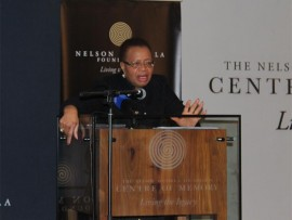 Graca Machel addresses the audience.