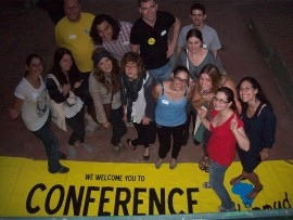 Limmud volunteers get ready for the conference.
