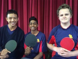 Stars... Hyde Park table tennis players Chao-Hong Peng, David Munien and Jonathan Whitson.