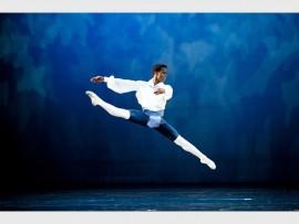 Photo: Bill Zurich JUMPING FOR JOY: Javier Monier springs into action in Flower Festival at Genzano by Joburg Ballet.