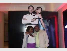 CLOSE-UP: Chawada and Tendai Mosvaire enjoy screening Spectre, the latest James Bond movie.