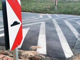 A speed bump can sometimes cause negative effects to traffic and pollution.