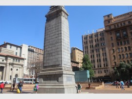 IN HONOUR: The monument that stands in the middle of Beyers Naudé Square is erected in honour of the men who fought in World War I.