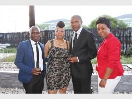 HAPPY: Dumisani Mbele, Platinah Moletsane, Xolisa Tutu and Thulisile Lungwase.