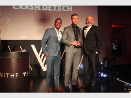 Winner... Sibusiso Shangase, head of marketing at Chivas Regal; Jaco Gerrits, winner of the second instalment of The Venture competition; and Ravi Naidoo, The Venture ambassador following Gerrits's win in Inanda.