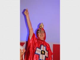 Star... Jonathan Taylor as a school mascot, Toy Botha, in Hyde School Musical.