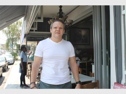 Saverio Cardillo stands outside his restaurant in Parkhurst.