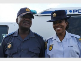 Major Sandile Mkize and Sergeant Iris Phoko of Parkview Police Station.
