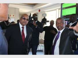 President Jacob Zuma also toured the Integrated Generation Control Center at Eskom where power demand and supply is monitored.