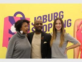 Marang Setshwaelo, publicist at Dreamcatcher Multimedia; Barba Gaoganediwe, general manager strategic communications at the Gauteng Economic Development Agency; and Nikki van Rensburg, project manager at Joburg Shopping Festival at the Rosebank Mall media launch.