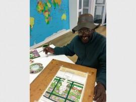 Artist Fikile Maseko loves to paint.