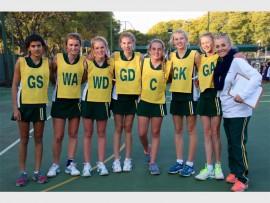 Kingsmead College U14A netball team.