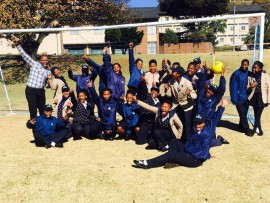 The Rand Girls High School soccer team.