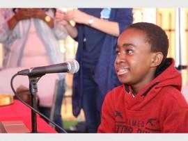 Omolemo Mokgwatlheng (14) winner of the 2015 #HomeForChristmas competition at Kaya FM.