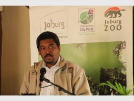 Acting Head of Joburg Zoo, Oscar van Heerden speaks to the audience about the zoo.
