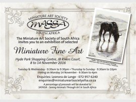 The Miniature Fine Art exhibition.