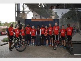 The Vodacom team that will ride for Caring for Girls 947 Mountain Bike Challenge.