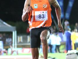 Photo: Thys Lombard    Long Jumper Ruswahl Samaai wins big at the annual University of Johannesburg awards.