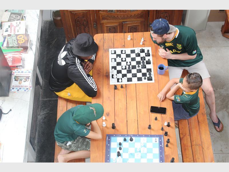 A game of chess while cheering on the Boks - Rosebank Killarney Gazette