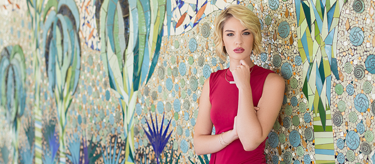 <h4>Small town beauty</h4><p>She may be petite, blonde and strikingly beautiful, but Mtunzini-born Miss SA top 12 finalist Kayla Malherbe is in no way a stereotypical beauty queen.</p>
