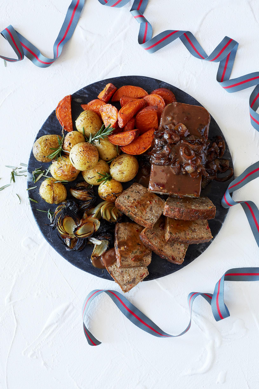 Recipe: Country Roast in a Sweet Tomato Glaze with Sweet Potato Mash