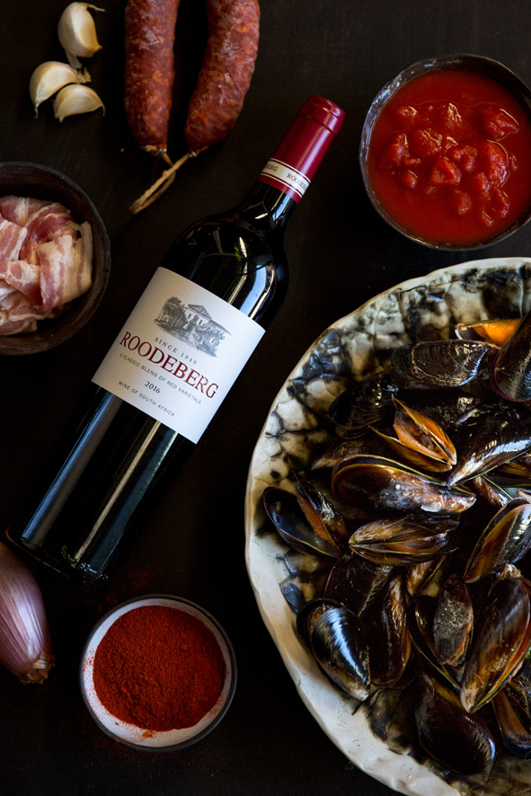 Mussels, friends and favourite SA Wine … happy heritage day