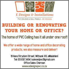 E-Designs & Installations Tel: 013 692 3494