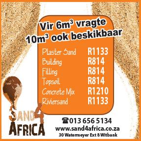 Sand 4 Africa Tel: 013 656 5134