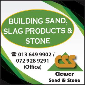 Clewer Sand & Stone Tel: 013 649 9902