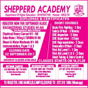 Shepperd Academy 013-658-6009