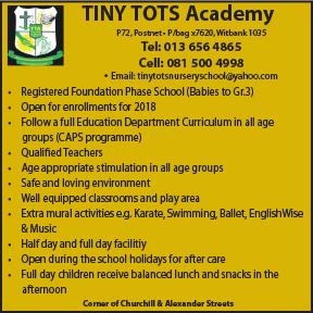 Tiny Tots Academy 013 656 4865