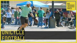 Are you brave enough to play unicycle football?