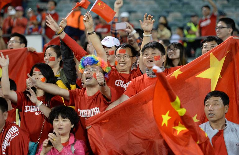4a14d640024be Fans of China cheer during the side s Asian Cup match against North Korea  in Canberra on