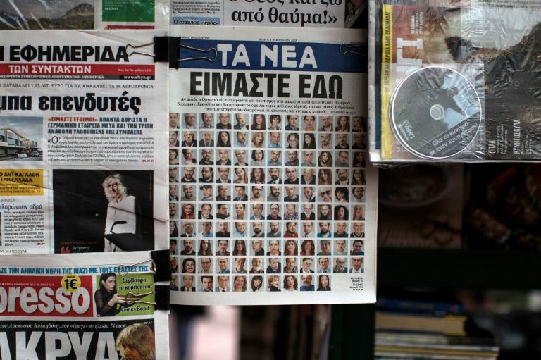 Top Greek newspaper absent from newsstands   AFP   Estcourt