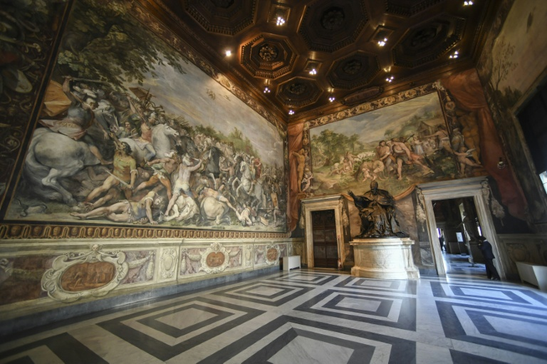 The EU will mark it's 60th anniversary in the Hall of the Horatii and Curiatii where the Treaty of Rome was signed in 1957 | © AFP/File | Andreas SOLARO