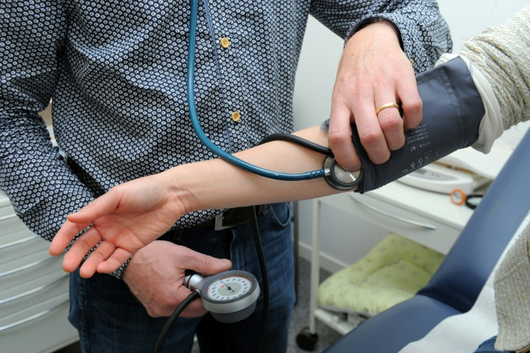 The average blood pressure of those taking part in the study began at around 140/90 mmHg, meaning they had what is clinically known as stage 1 hypertension   © AFP   FRED TANNEAU
