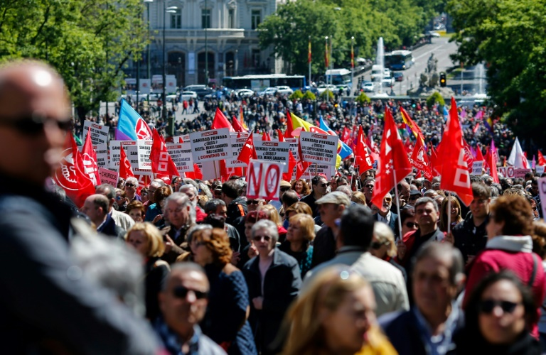 May Day demonstration in Madrid focuses on corruption as another scandal  for the conservative PP party 6b5a9a046ace8