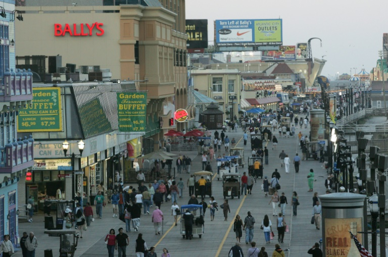 Resorts, hotels, restaurants and other service-sector businesses, like these pictured in Atlantic City, say they depend on the foreign workers because it is harder to recruit young Americans for the jobs paying $10-$15 an hour for the summer   © AFP/File   SAUL LOEB