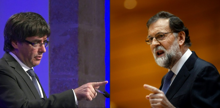 Pointing in different directions  Catalan president Carles Puigdemont (l)  has been removed from 776d141e30e8f