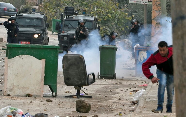 Palestinians arrested during clashes with Israeli forces, such as here in the occupied West Bank on February 6, 2018, are often held under Israel's controversial administrative detention policy   © AFP   Jaafar ASHTIYEH