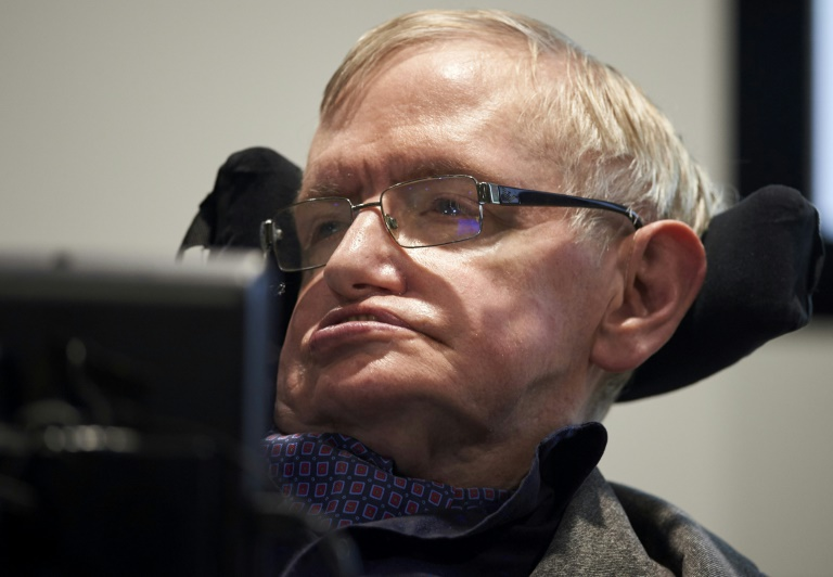Stephen Hawking, who has died aged 76, was Britain's most famous modern day scientist | © AFP/File | NIKLAS HALLE'N