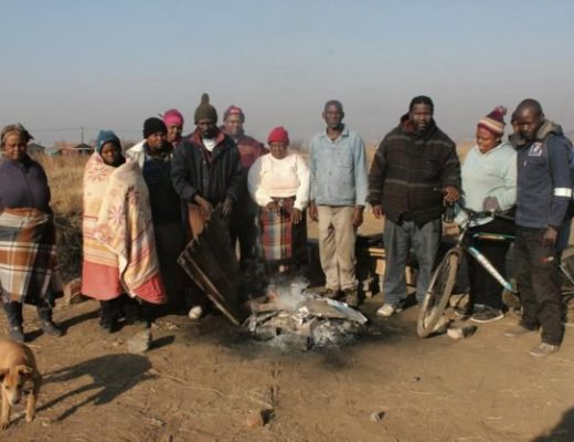 Illegal land grabbers left in the cold south of Joburg