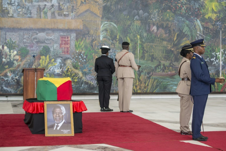 Kofi Annan's body was flown back home to Ghana on Monday and he will be buried after a state funeral on Thursday | © AFP | CRISTINA ALDEHUELA