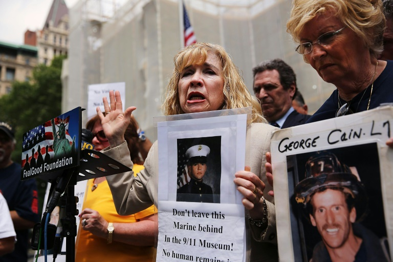 Sally Regenhard, who lost her son on 9/11, speaks at a news conference with other family members in New York on May 26, 2014 | © GETTY IMAGES NORTH AMERICA/AFP/File | SPENCER PLATT