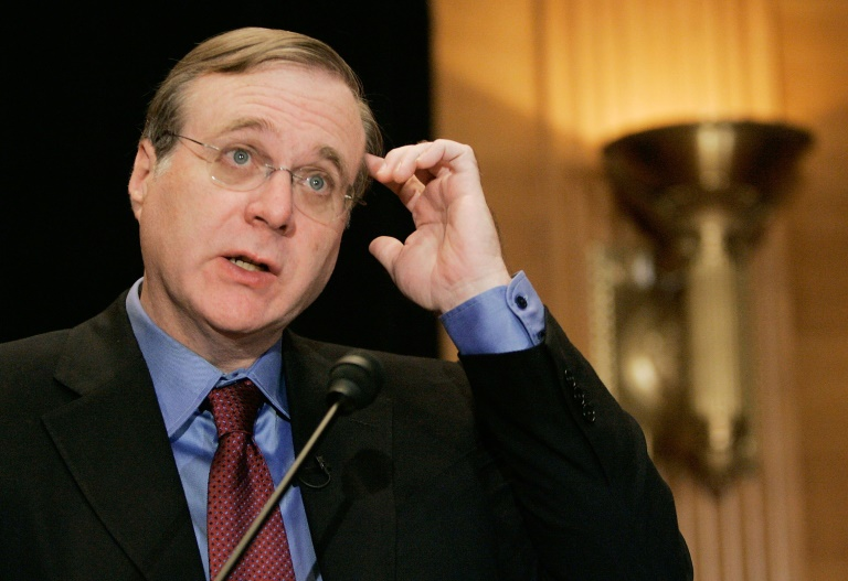 Paul Allen is seen during a 2006 event at the US Capitol in Washington where he spoke about the completion of the Allen Brain Atlas, a neuroscience initiative   © Getty Images North America/AFP/File   MARK WILSON