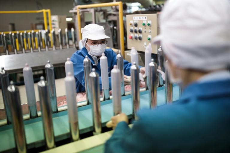 Condom factory workers